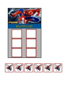 Behavior Chart (6 Boxes) Spiderman