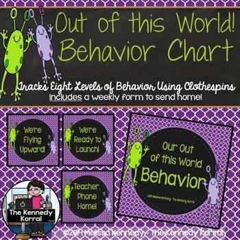 Behavior Chart: Out of this World Behavior {Aliens}