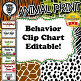 Behavior Chart  - Animal Print - ZisforZebra - Editable!