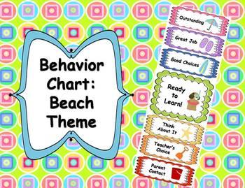 Behavior Clip Chart - Beach Theme
