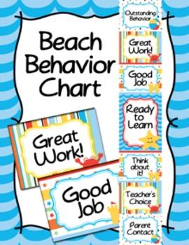 Behavior Chart Beach Theme