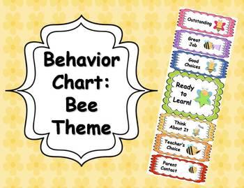 Behavior Clip Chart - Bee Theme