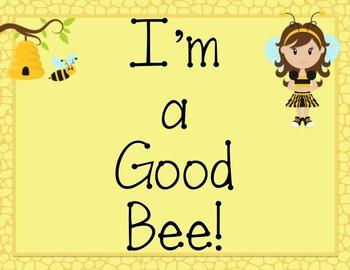 Behavior Clip Chart: Bee Girl