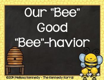 Behavior Clip Chart: Bees