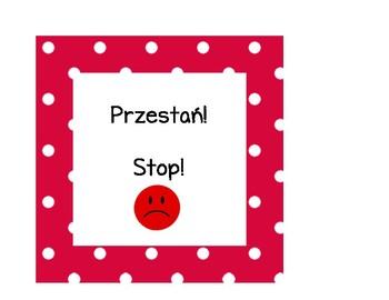 Behavior Chart: Bilingual (English and Polish)