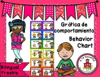 Behavior Chart Bilingual Freebie