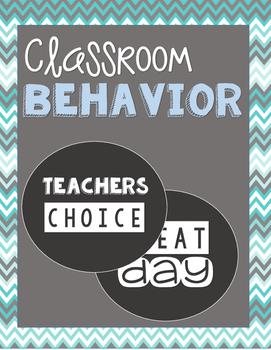 Behavior Chart // Black + White //