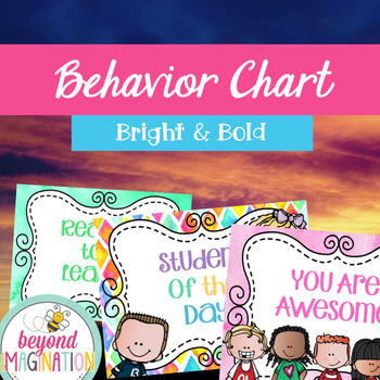 Behavior Chart Bright and Bold Themed | Fun Classroom Decor