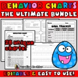 Behavior Chart Bundle: 28 Editable Sheets to Plan & Improve Behavior