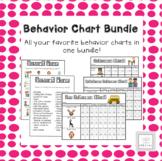 Behavior Chart Bundle with Reward Menus