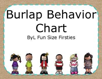 Behavior Chart Burlap