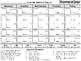 Behavior Chart Calendar