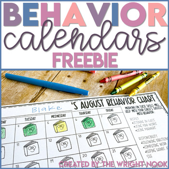 Behavior Chart Calendar FREEBIE Sampler