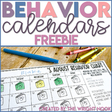 Behavior Chart Calendar FREEBIE