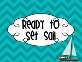 Behavior Chart & Calendar {Nautical}