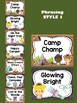 Behavior Chart - Camping Theme Behavior Clip Chart : Cute Camp Woods