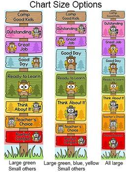 Behavior Chart - Camping Theme Classroom Decor