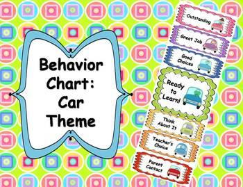 Behavior Clip Chart - Car Theme