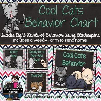 Behavior Chart:  Cool Cats {Cats}