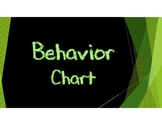 Behavior Chart - Chalkboard Theme