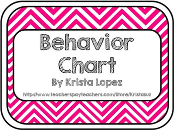 Behavior Chart ~ Chevron
