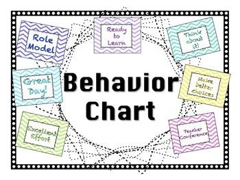 Behavior Chart - Chevron