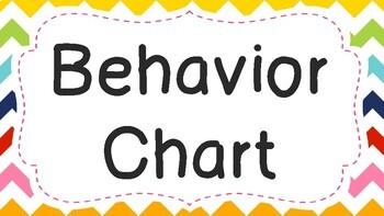 Behavior Chart Chevron Pattern