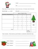 Behavior Chart - Christmas Theme