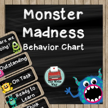 Behavior Chart- Classroom Decor - Monster Madness Theme