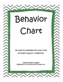 Behavior Chart - Classroom Management