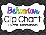 Behavior Chart - Clip Chart, Behavior Management, Rainbow,