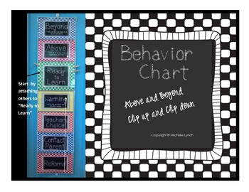Behavior Chart Above and Beyond Clip Up Clip Down