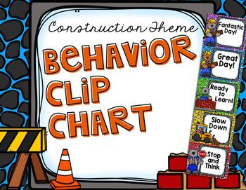 Behavior Chart - Construction Bears