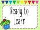 Behavior Chart - Cupcakes!