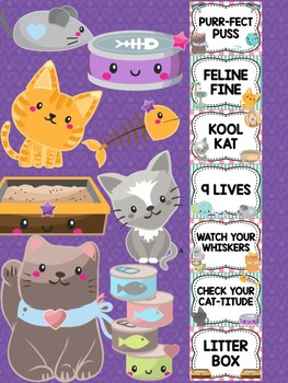Behavior Chart -  Cute Cats Theme Behavior Clip Chart, Kittens, Cat, Kittens