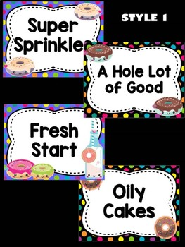 Behavior Chart -  Cute Donut Theme Behavior Clip Chart, Donuts, Fun