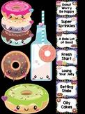Behavior Chart -  Cute Donut Theme Behavior Clip Chart, Donuts, Fun