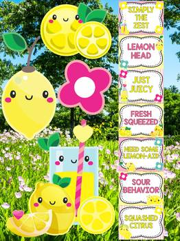 Behavior Chart -  Cute Lemons Theme Behavior Clip Chart, Lemonade, Kawaii
