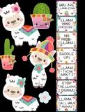 Behavior Chart - Cute Llamas