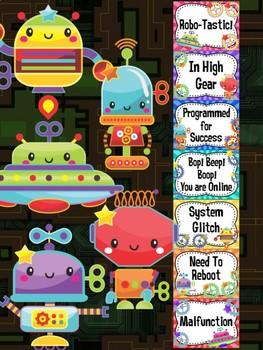 Behavior Chart -  Cute Robots Behavior Clip Chart, Science