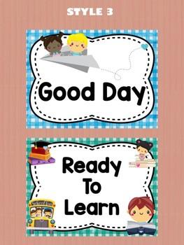 Behavior Chart - Cute School Kids Theme Behavior Clip Chart