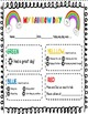 Behavior Chart Daily Notes-My Rainbow Day!