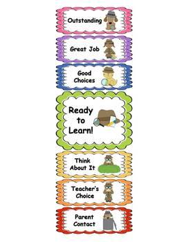 Behavior Clip Chart - Detective Theme