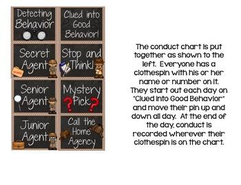 Behavior Clip Chart: Detectives