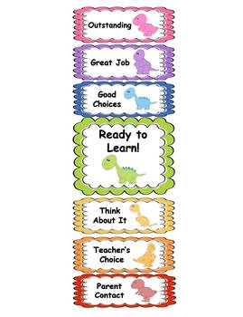 Behavior Clip Chart - Dinosaur Theme