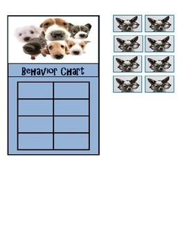 Behavior Chart (Dog Theme)