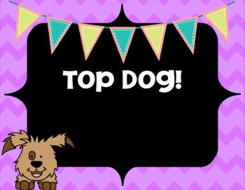 Behavior Chart Dog Themed