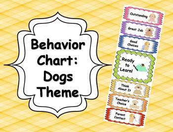 Behavior Clip Chart - Dogs Theme