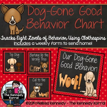 Behavior Chart: Dog-Gone Good Behavior {Dogs}