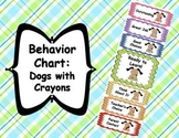 Behavior Clip Chart - Dogs with Crayons Theme